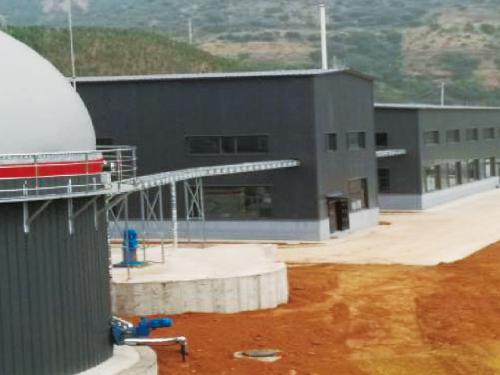龙8国际备用网站分选+热解+余热发电处理站